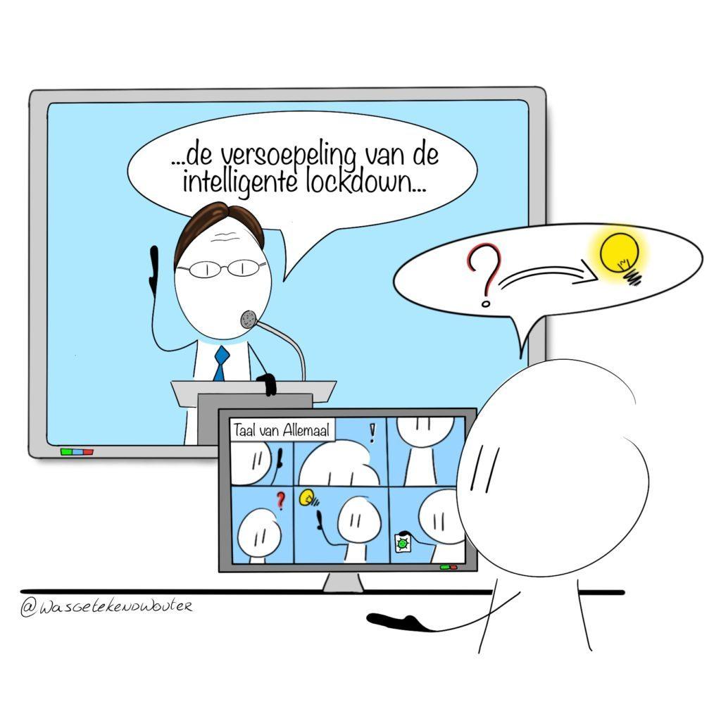 Minister Rutte die moeilijke woorden uitspreekt