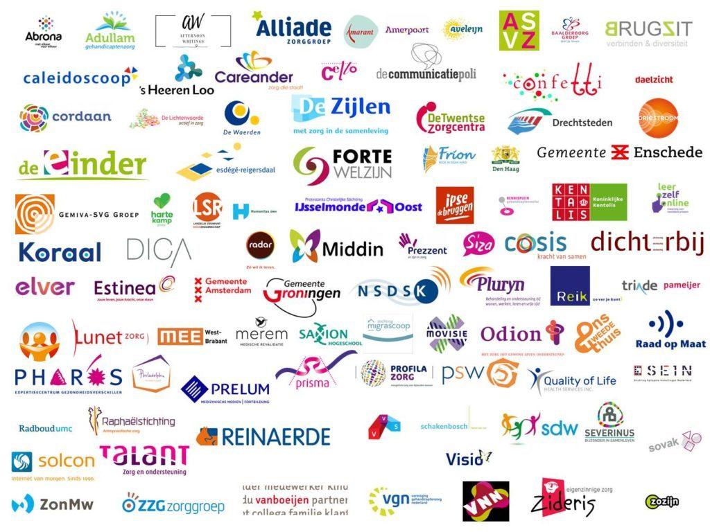 Alle logo's van deelnemende organisaties